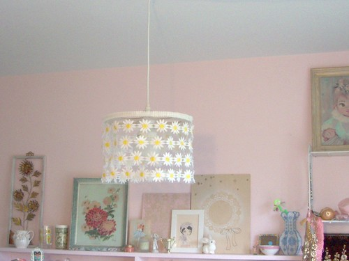 Daisy Chain Light Shade Hanging in my Work Area