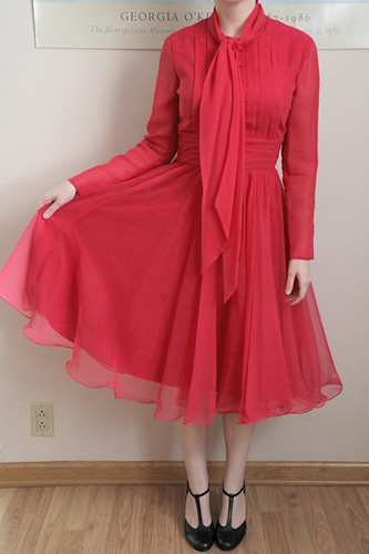 Hot Pink 50s Party Dress Size Medium