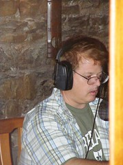 Rick recording his lines (Lars Thorsen)