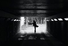 Rebecca Bohle (lenag_photographee) Tags: uk people blackandwhite ballet woman white black berlin london girl silhouette horizontal architecture female turn dark happy photography lights freedom dance student solitude day alone foto fotografie adult dancing rebecca fulllength tunnel center dancer indoors lena balance falmouth deptford adultsonly oneperson laban spontaneous skill simetry inarow silhuette electriclight londonengland standingononeleg weighted capitalcities balletdancer onewomanonly bohle builtstructure unrecognizableperson ganssmann dontusewithoutmypermission wwwlenaganssmanncom lenaganssmann 2010©lenaganssmannphotography simmetery