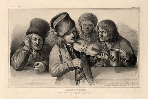 009-Tocando una mazurca- Varsovia 1841-Album de dibujos de Varsovia- Piwarski