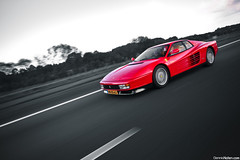 Testarossa. (Denniske) Tags: red motion holland netherlands speed canon rouge photography eos movement october angle action 10 wide nederland sigma automotive ferrari 09 17 mm nl dennis panning 1020 rood rosso 2009 17th the noten f456 rt 40d cartocar denniske dennisnotencom ferraritestarossabydennisnotencom