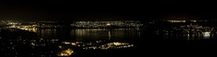 sotra by night (cmeeren) Tags: ocean lighting sea nature water night reflections lights mirror panoramas fjords sotra