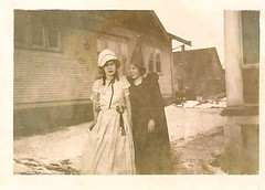 bo peep and a bad witch (carbonated) Tags: 1920s costumes halloween vintage costume women candid masquerade amateur