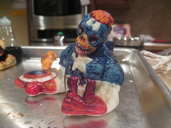 Zombie Captain America for Zombie Superhero Cake  - Hand Painted Fondant Figure (Sweet Flair) Tags: halloween graveyard cake zombie headstone cemetary tombstone spiderman creepy superhero marvel captainamerica wolverine flashgordon fondant