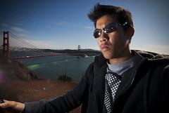 146.365 - On the Bridge (whiteblazesix) Tags: sanfrancisco selfportrait sb600 goldengatebridge 365 marinheadlands 146 365days tokina1116mmf28 ryaneng
