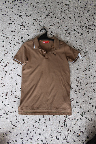 brown puma polo girl's shirt