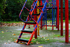 Spiderman Paint job! (MartianM) Tags: autumn colors playground architecture swings spiderman slide climbing steelstructure