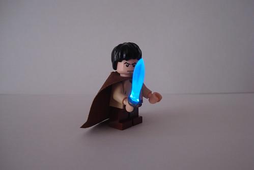 Hobbit custom minifig with light up sword
