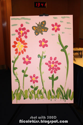pink flowers painting