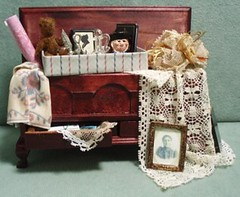 Vintage Miniature Chest filled with Memories