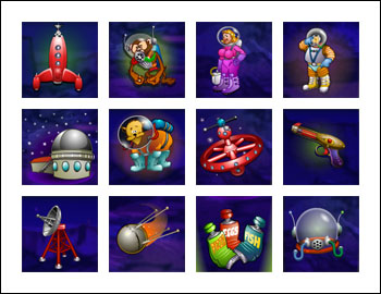 free Cosmic Quest Episode One slot game symbols