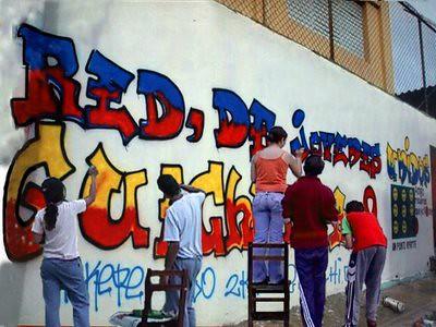 Haciendo graffitis nuevos