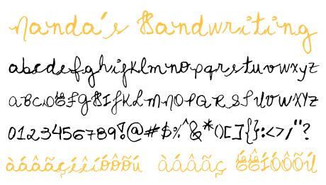 click to download Nanda's Handwriring
