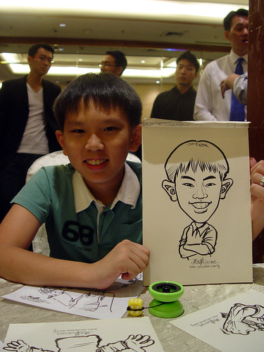 Caricature live sketching for wedding dinner 221109 - 12