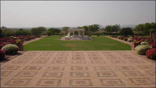 Great courtyard in Umaid Bhawan Palace