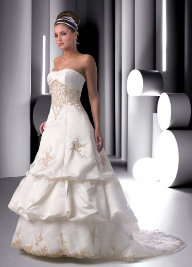 Wedding Gown Dress Patterns Embroidered