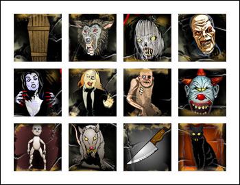 free Scary Rich 2 slot game symbols