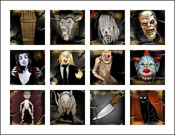 free Scary Rich 2 slot game symbols
