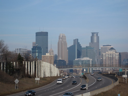 Minneapolis Skyline from 26th St E Bridge