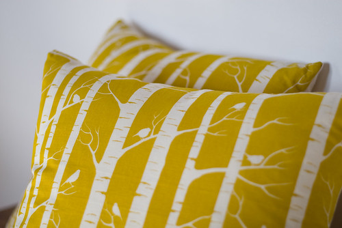 gold birch cushions