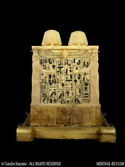 King Tut's Canopic Chest - Rear View (Sandro Vannini) Tags: art photography egypt viscera tutankhamun mummification alabaster beliefs egyptians egyptianmuseum cairomuseum kv62 canopicjars heritagekey sandrovannini canopicchest humanheadedstoppers