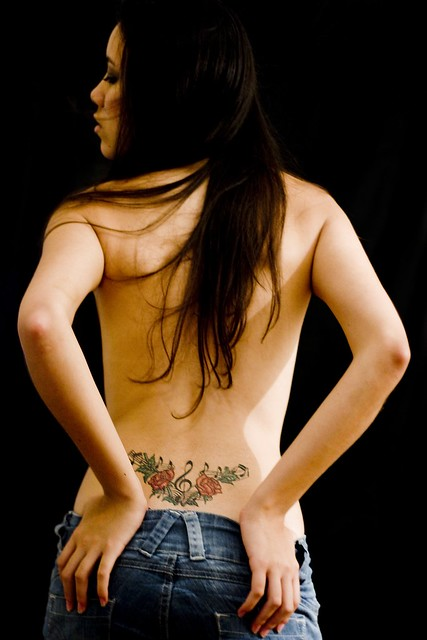 Sexy back tattoo celebrity