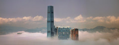 City in the sky (briyen) Tags: city sky fog harbor floating victoria hong kong lpweather