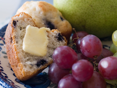 muffins and grapes