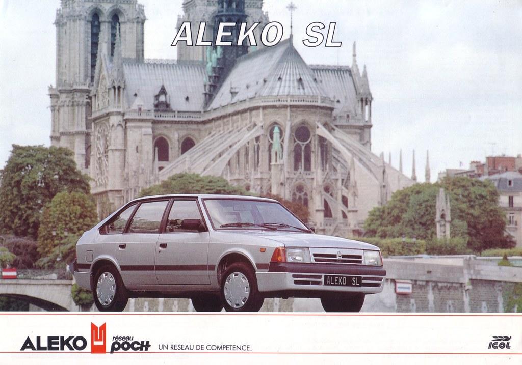 Aleko 1500 SL 1991 brochure (France)