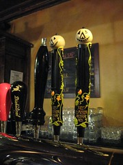 Jolly Pumpkin tap handles (SimplP) Tags: travel beer mi brewing pumpkin anne restaurant artwork michigan arbor brewery destination tasting jolly tap sour brewpub brewer handles