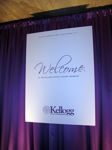 Kellogg Honors Ceremony sign