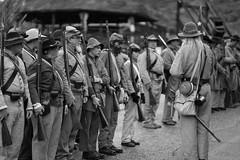 Civil War Reenactors (Jose Matutina) Tags: bw blackandwhite caifornia calico civilwar historical history mining reenactment reenactors sel85f14gm sonya7ii yermo