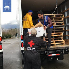Islamic Relief USA's disaster response team works with the American Red Cross to provide relief for people affected by the Oroville Dam