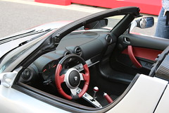 Tesla Roadster electric car (anachrocomputer) Tags: london car knightsbridge ev launch tesla electriccar electricvehicle teslamotors teslaroadster