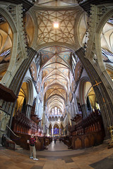 Salisbury Cathedral fisheye