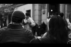 viendo el tango pasar (i-nacho) Tags: blackandwhite bw blancoynegro argentina 50mm buenosaires nikon couple noiretblanc pareja el viendo safari tango grupo laboca nikkor f18 pasar portea d90 inacho