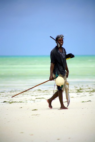 Paje man with spear and octopus
