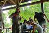 Jason Webley directing traffic (Eli Juicy Jones) Tags: seattle park summer people jasonwebley 2009 wallingford lunge camptomato juicyjones meridianpark tomatoscouts lx3 slightlynorth