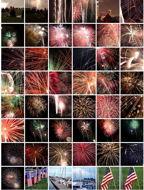 fireworks mosaic 2009