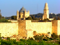 Old City Walls toy set (jglsongs) Tags: manipulated jerusalem tiltshift   tiltshiftphotography  tiltundshiftobjektiv