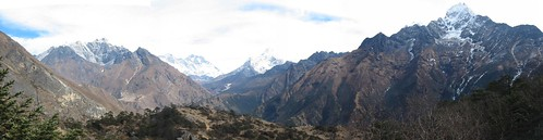 Panorama from above Namche