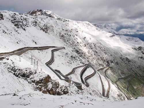 Italy, Stelvio pass, crazy road