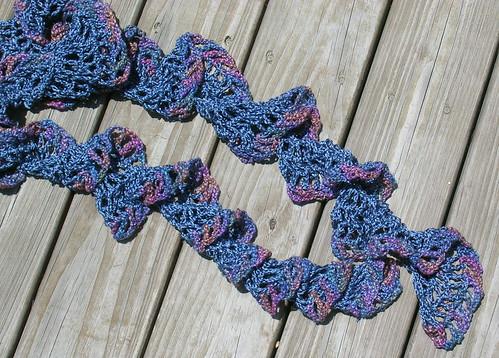 Blue Swirl Scarf