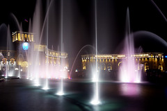 Republic square in Yerevan (paronsuren) Tags: voyage street city travel light people urban italy streets color building clock tourism lamp architecture night buildings dark outside lights evening site stream europe cityscape exterior view darkness time outdoor flag side crowd group sightseeing illuminations cities cityscapes illumination bigben scene spot front tourist tourists spots journey nightime destiny seeing destination streams persons traveling fountains yerevan scenes touring travelers multitude journeys trieste groups sites traveler exteriors municipality republicsquare destinations fountan multitudes municipalities thoroughfare thoroughfares