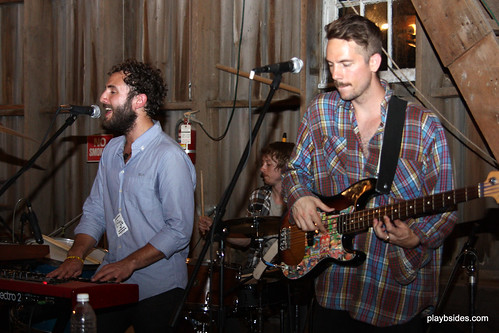 Kelcey, Matt and Andy of Local Natives