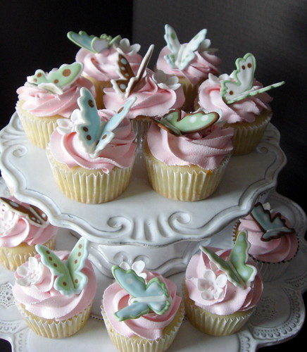 French Vanilla Butterfly Cupcakes