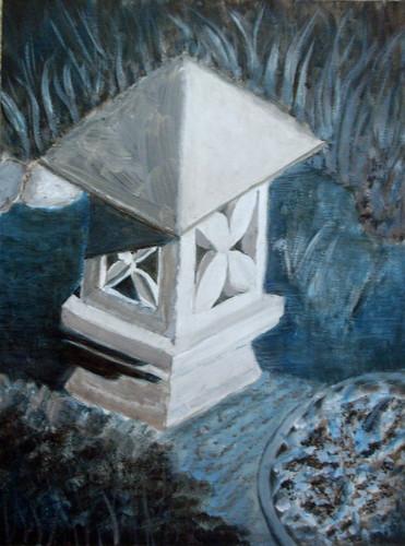 Tonal study - my pond statue