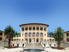 Ordzhonikidze SPA; Sochi, Russia (Vlad Feoktistov) Tags: park blue sky holiday tree green phoenix leaves wonderful garden spring warm paradise russia palmeiras palm resort vegetation canary sanatorium resorts subtropical palmae spa russie sochi rusia canari subtropics russland  arecaceae  canaryislanddatepalm canariensis sotchi sergo palmaceae sotschi soi   grigol orjonikidze