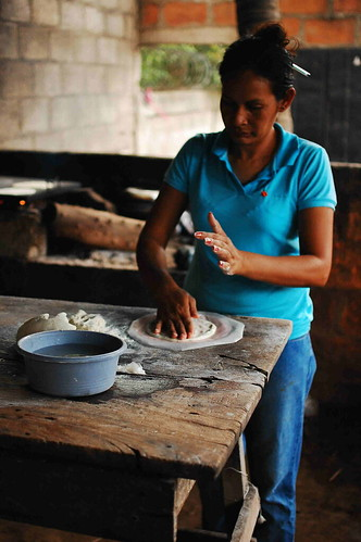 After Cirulo (the community organizer pictured later) lost his job as a metal worker, his wife has been barely sustaining the family of seven by making tortillas from dawn till dusk.